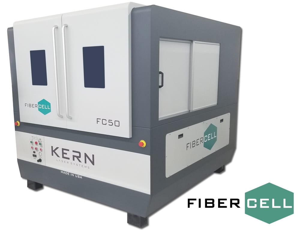 Kern Fibercell Laser Cutter - laser-cut metal signs