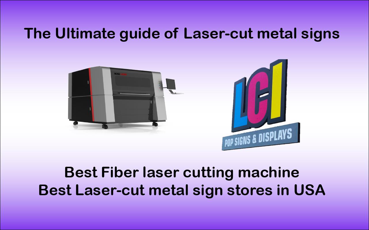 laser-cut metal signs